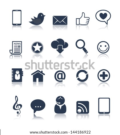 Internet communication icon set