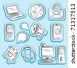Internet Communication Icons Set - stock vector