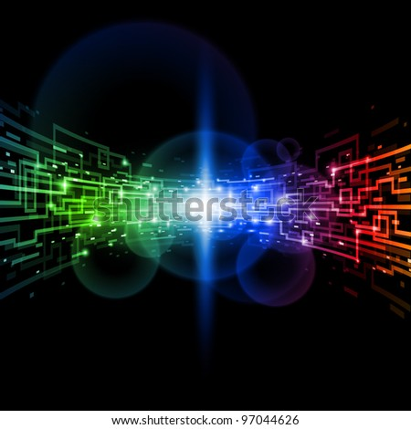 Internet concept, technology-style background. Illustration for design - stock vector