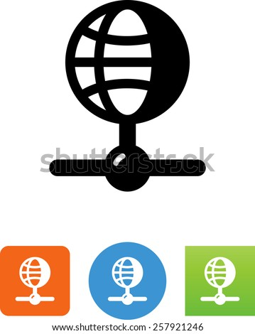 Internet connection symbol for download. Vector icons for video, mobile apps, Web sites and print projects.  - stock vector
