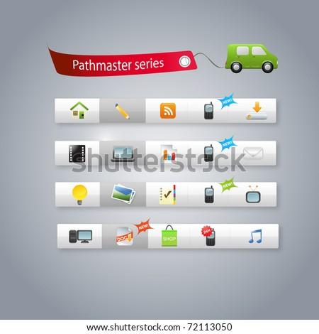 Internet graphics - stock vector