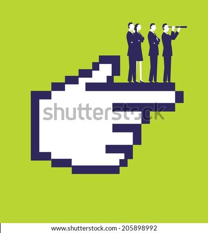 Internet Hand - stock vector