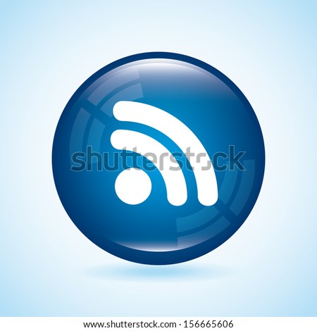 internet icon over blue background vector illustration - stock vector