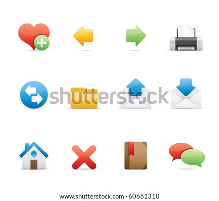 Internet icon set 1 - Glossy Series.  Vector EPS 8 format, easy to edit. - stock vector
