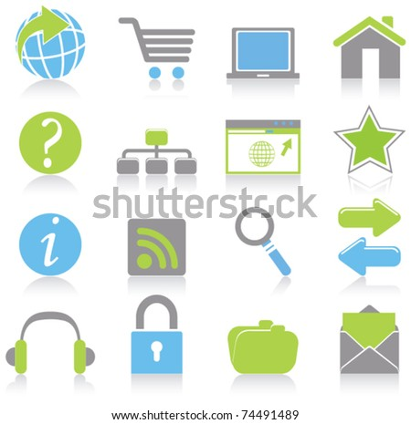 Internet icons - stock vector
