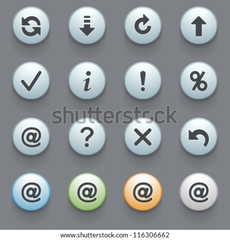 Internet icons for web site, set 7. - stock vector
