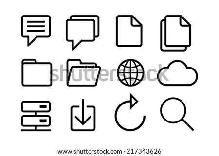 internet icons for your designs - stock vector