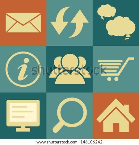 Internet icons set. Illustration eps 10 - stock vector