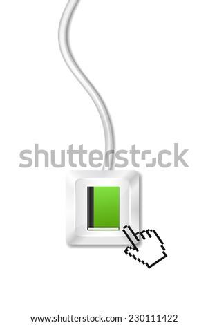 Internet Library - stock vector