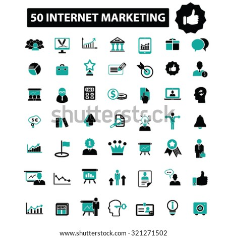 internet marketing icons - stock vector