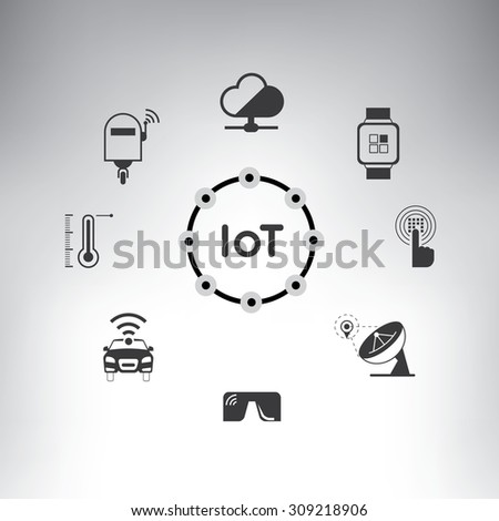 internet of things, internet of everything concept - stock vector