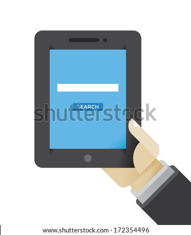 Search Stock Photos Internet search page on the