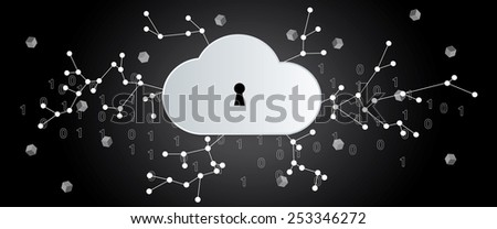 Internet secure access - stock vector