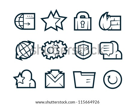 Internet Security Icons - stock vector