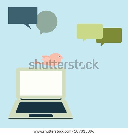 Internet social media network,vintage vector design