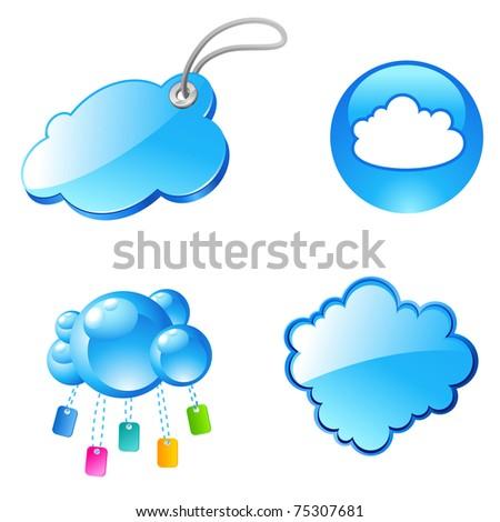 internet tag cloud icons, keywords - stock vector