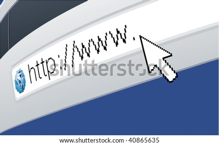 Internet. Vector background.