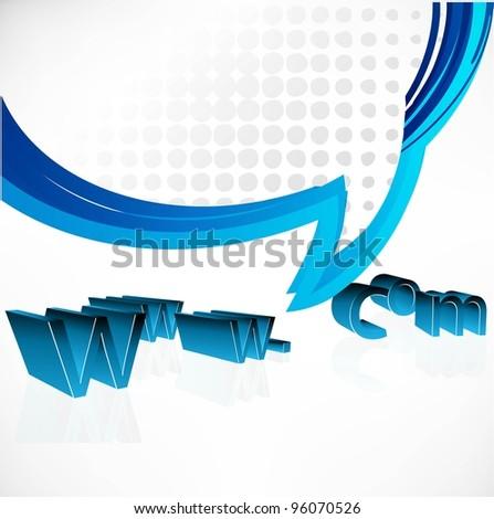 internet vector concept - stock vector