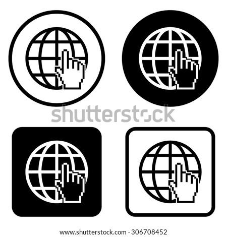 Internet   - vector icon - stock vector