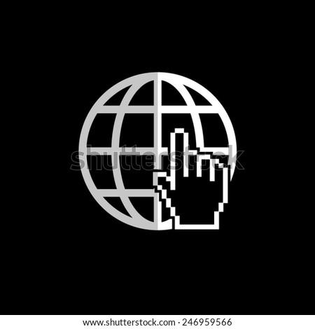 Internet  - vector icon, flat design - stock vector