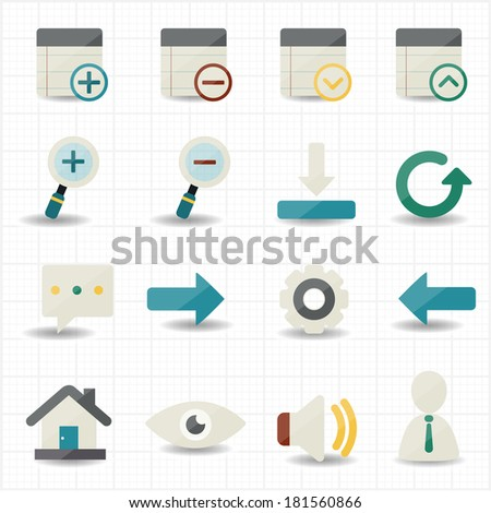 Internet web and mobile icons - stock vector