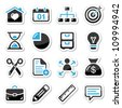 Internet, web icons as labels - stock vector