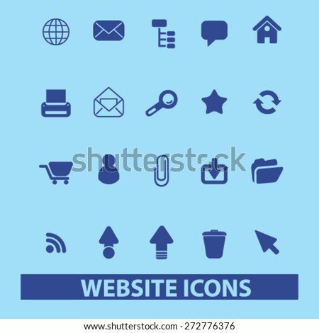 internet, website icons, signs, illustrations set, vector