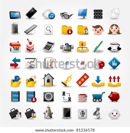 Internet & Website icons,Web Icons, icons Set - stock vector