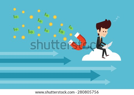 Internet Working - stock vector