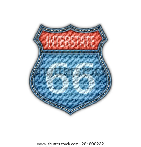 Interstate sign. Route sign. Vector illustration. - stock vector
