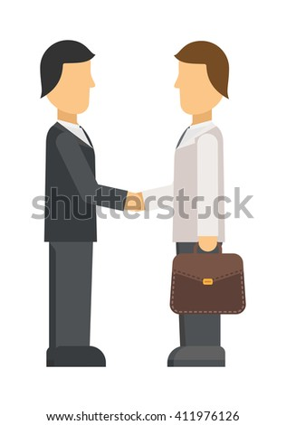Interview panel listening to applicant in office business job people young occupation employee vector character. Interview recruitment procedure in corporation office. Interview people meeting. - stock vector