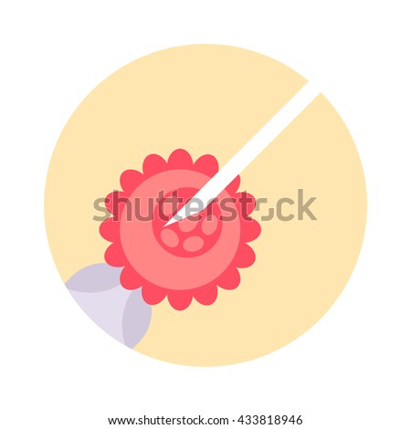 Intracytoplasmic sperm injection artificial insemination, sperm injected into an oocyte artificial insemination. Artificial insemination detailed illustration and human artificial insemination. - stock vector