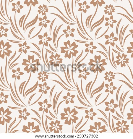 Intricate colorful vector pattern of flowers with a touch of retro - stock vector