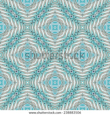 Intricate eastern pattern. Seamless vector background. - stock vector