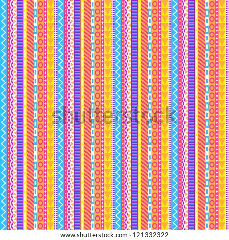 Intricate Pastel Stripes Pattern - stock vector