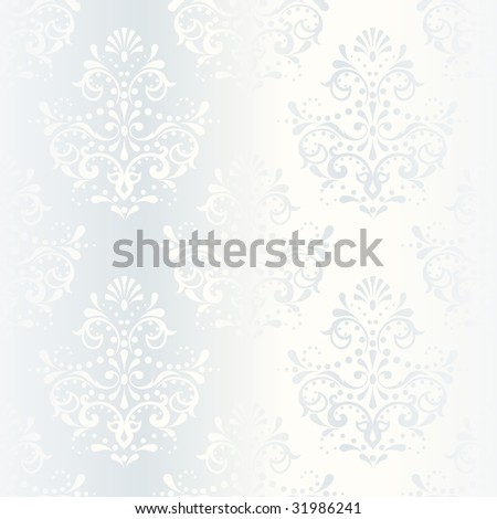 Intricate white satin wedding pattern (vector); a JPG version is also available - stock vector