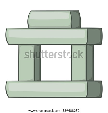 Inukshuk Canada Icon Cartoon Illustration Inukshuk Stock Vector
