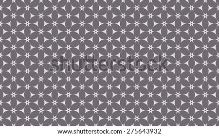 Inverse black and white seamless floral pattern vector