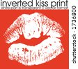 Inverted Lipstick print, vector format - stock vector