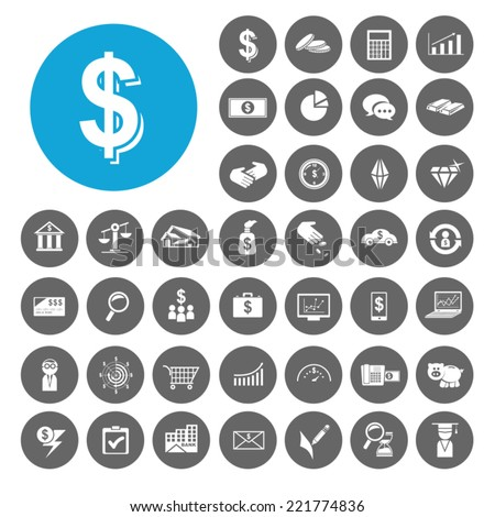 Investment icons set. Illustration EPS10 - stock vector