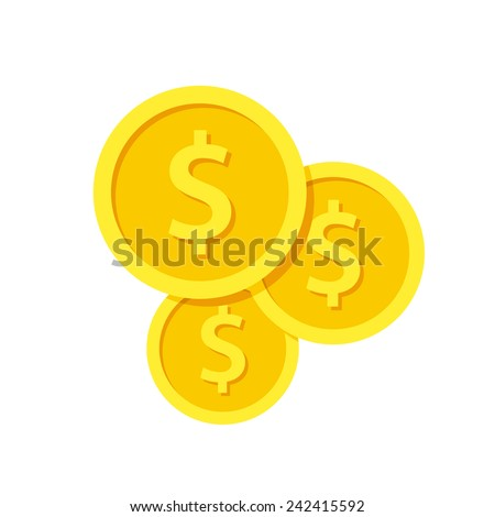 Investment, modern flat icon - stock vector