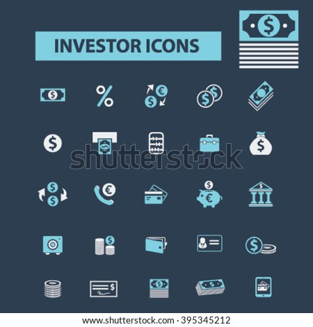 investor icons  - stock vector