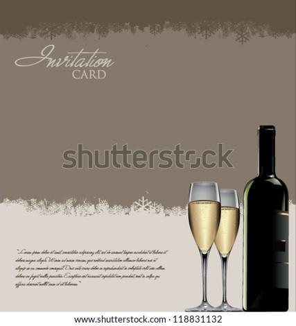 Invitation card - stock vector