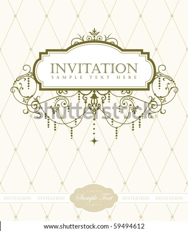 Invitation card - stock vector