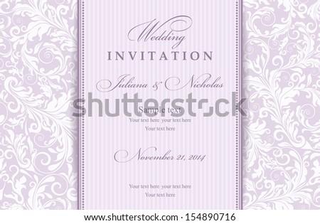Invitation card Baroque - stock vector