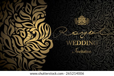 Invitation Card Baroque Golden Red Vintage Vector 249273283 – Invitation Card Border Design