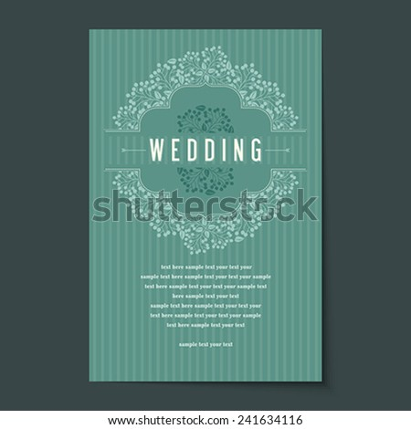 Invitation card design for wedding or announcements - stock vector