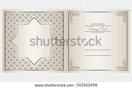 Invitation card design vector indian arabic stock vector 542962498 invitation card design vector indian arabic and muslim theme stopboris Images