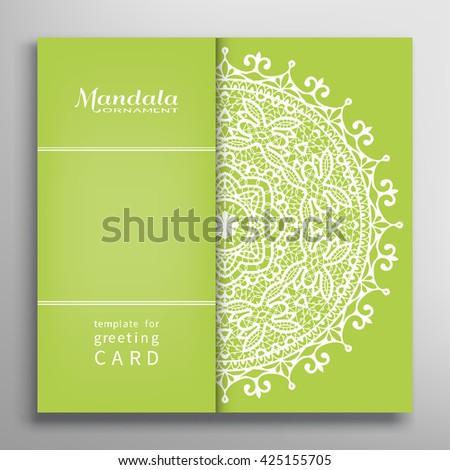 Invitation Card Design Lace Pattern Decorative Stock Photo Photo - Luxury birthday invitation card template design