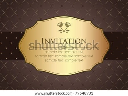 Invitation Card in Retro Style - stock vector